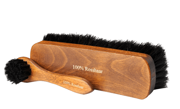 Horsehair brush set dark